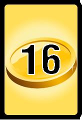 Wheel of Cash raffle Bonus board- number 16
